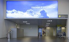 РAdvertising on lightboxes in airport Zhukovsky (Ramenskoye) in Moscow