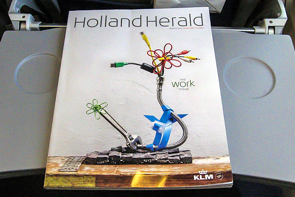 Реклама в бортовом журнале Holland Herald